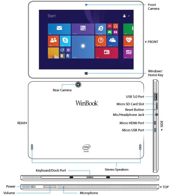 WinBook TW100 10.1 Tablet